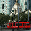 San Diego Trolley and Santa Fe Station