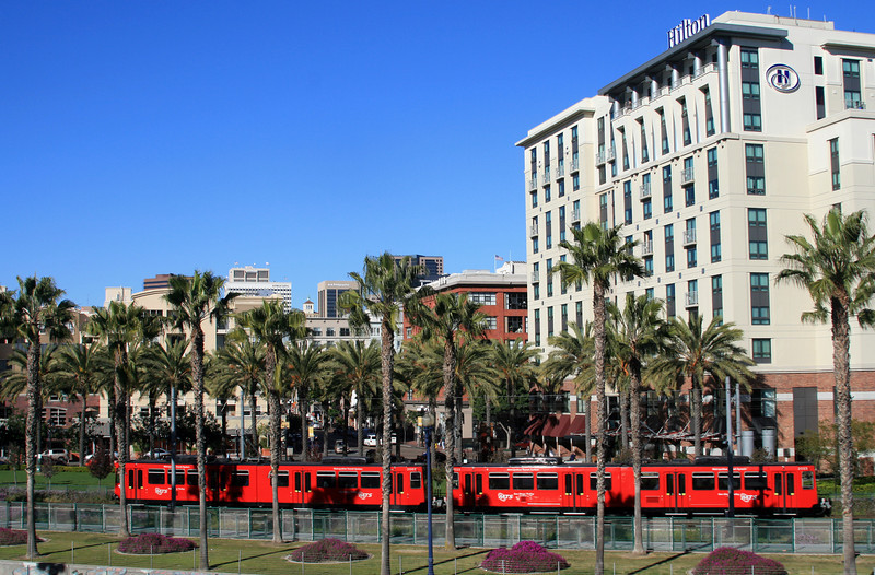 San Diego Trolley near Convention Center