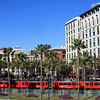 San Diego Trolley near Convention Center