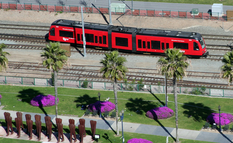 San Diego Trolley, Downtown View from Above