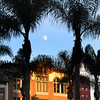 San Diego Gaslamp Quarter Full Moon over Historical Buildings