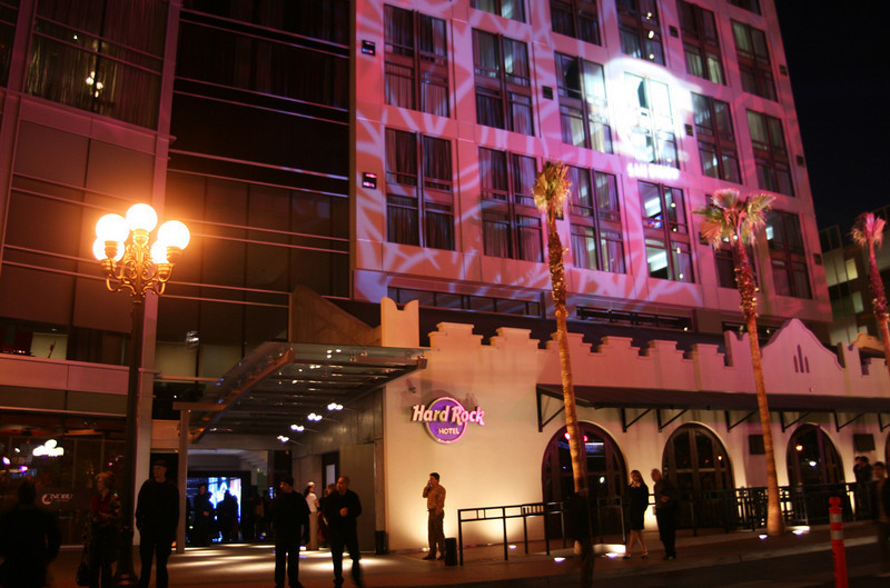San Diego Gaslamp Quarter Hard Rock Hotel Entrance