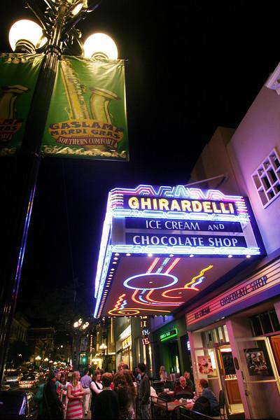 San Diego Gaslamp Quarter Ghirardelli Shop