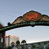 San Diego Gaslamp Quarter View on Sign and Convention Center