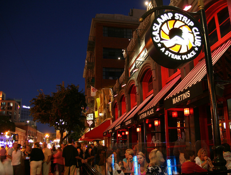 San Diego Gaslamp Quarter Patio Diners