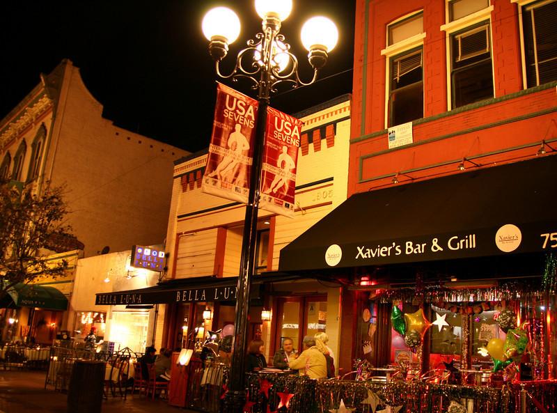 San Diego Gaslamp Quarter Evening Diners