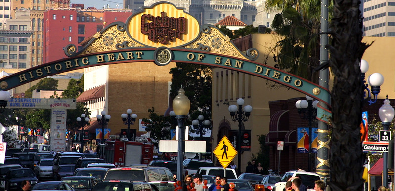 San Diego Gaslamp Quarter Sign View