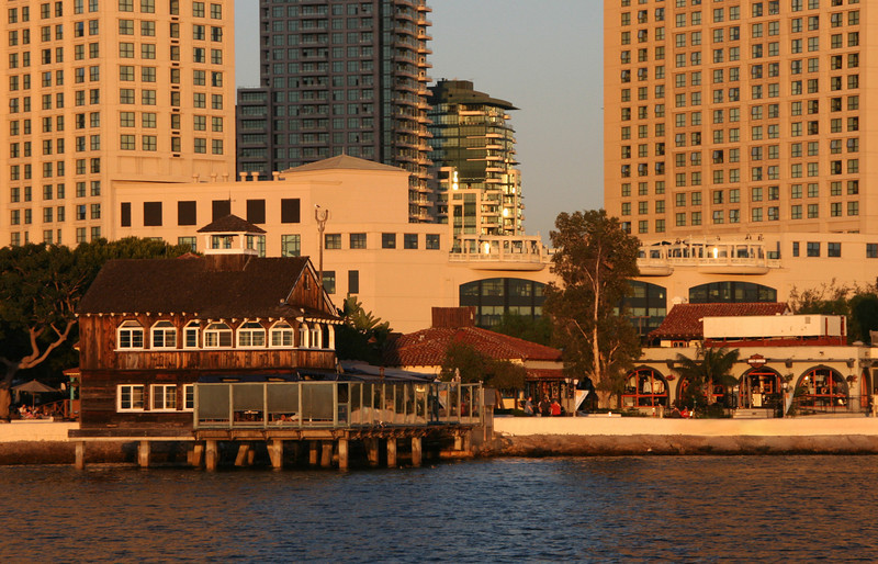 Seaport Village, dusk