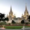 San Diego Mormon Temple, dusk