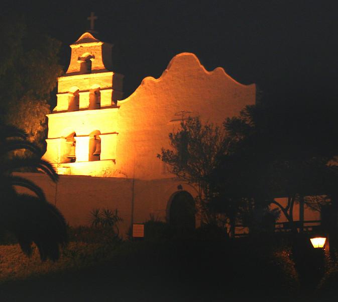 Mission Basilica de Alcala,Night View