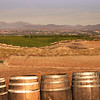 View over Wine Barrels onto Temecula Valley