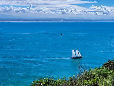 Leaving for blue water - from Cabrillo National Monument