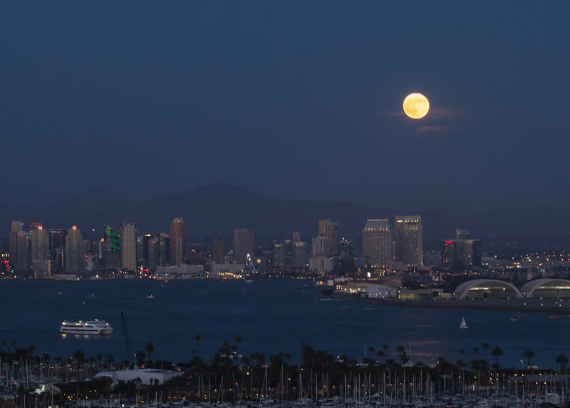 August super moon over San Diego