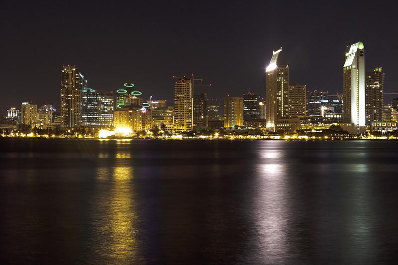 San Diego from I Avenue on Coronado