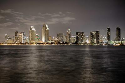 San Diego on a winter evening