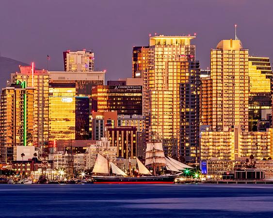 Star of India sailing ship, San Diego, California.