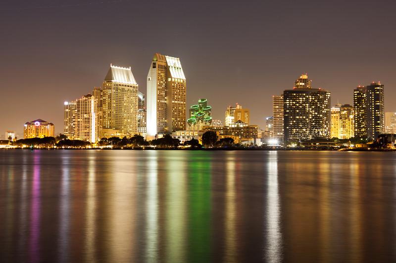 City lights, San Diego from Coronado