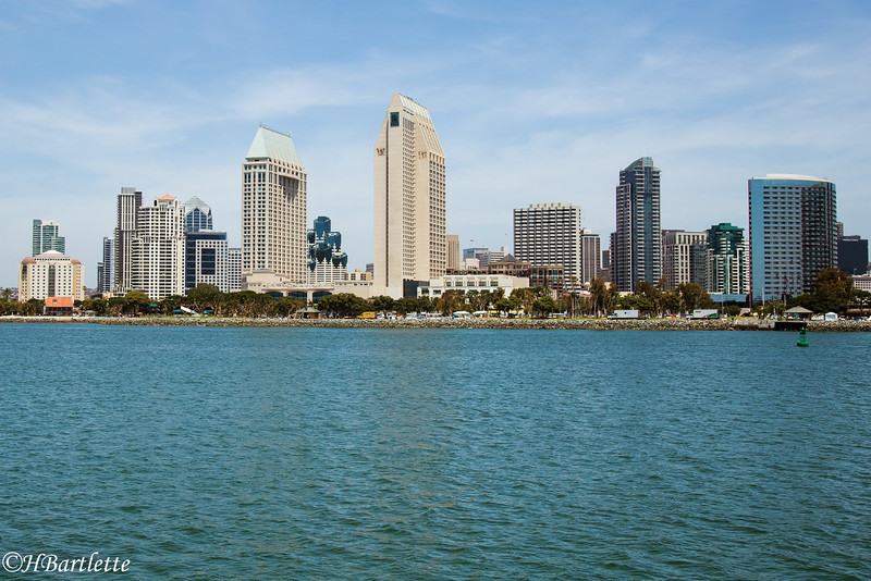 San Diego City from the Coronado ferry