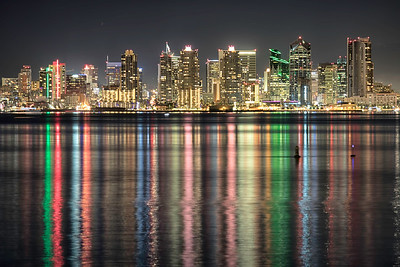 San Diego City when the bay is calm