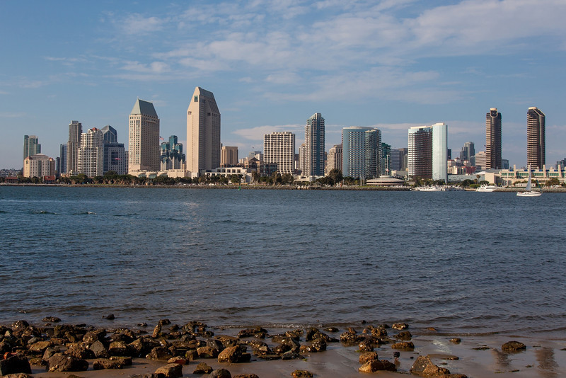 San Diego, late afternoon from Coronado