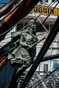 An old sailing ships figurehead.