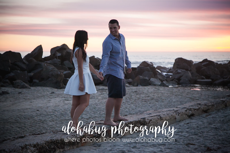 Engagement Photos at Hotel Del Coronado Beach by AlohaBug Photography