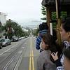 Alcatraz im Hintergrund