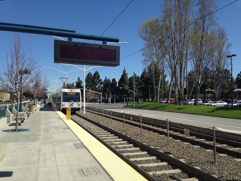 Light rail in Sunnyvale.