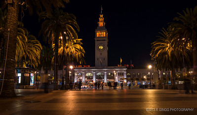Giant's Orange The Ferry Building in the orange glow of the Giants