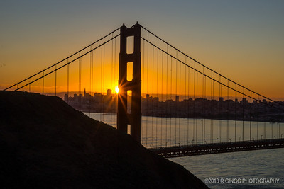 Sunrise at the Golden Gate