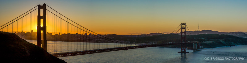 Sunrise at the Golden Gate Panorama