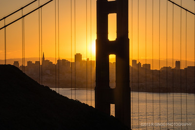 Sunrise at the Golden Gate Telephoto