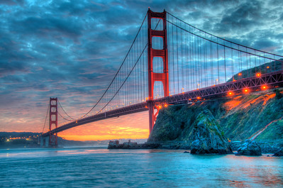 golden gate bridge-sunset-hdr-04-2