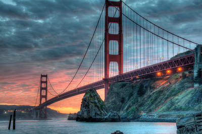 golden gate bridge-sunset-hdr-02