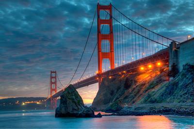 golden gate bridge-sunset-hdr-07