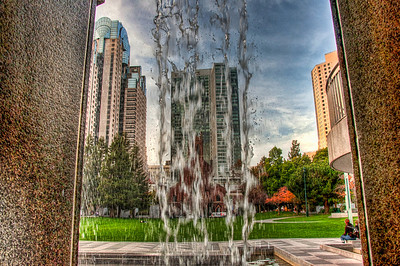 city-waterfall-hdr