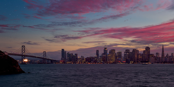 Bay Bridge, San Francisco, City, Landscape, Sunset