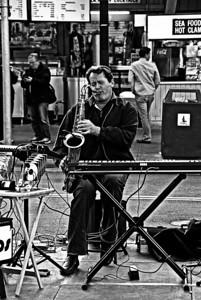 Busker, SF CA, 2012