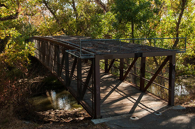 "I wasn't sure I wanted to cross this bridge. Is it just me or does it look like a trap waiting to be sprung? Also right at the start of the ""official"" Coyote Creek Trail."