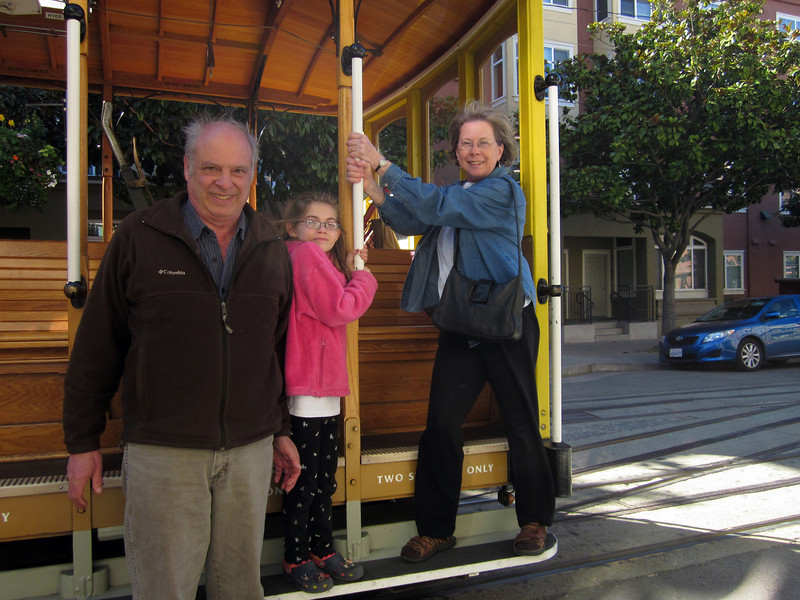 Arriving by cable car at Fisherman's Wharf