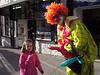 Skyla meets clown