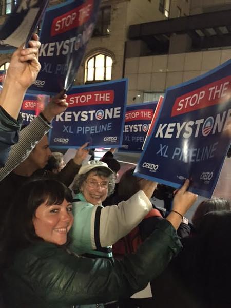 Rally in San Francisco against Keystone XP pipeline-Jan 2015