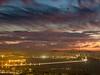 Bay Bridge and San Francisco Lights after Sunset, Berkeley CA