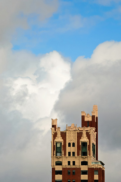 Apartment Building Backed by Clouds, Oakland CA
