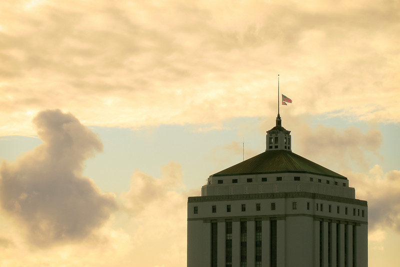 Alameda County Courthouse and Clearing Storm, Oakland CA