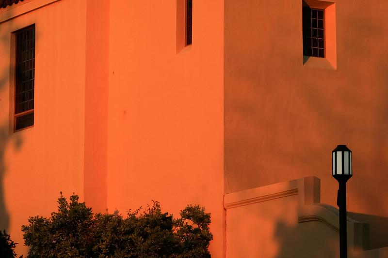 Corpus Christi Church Bathed in Evening Light, Oakland CA