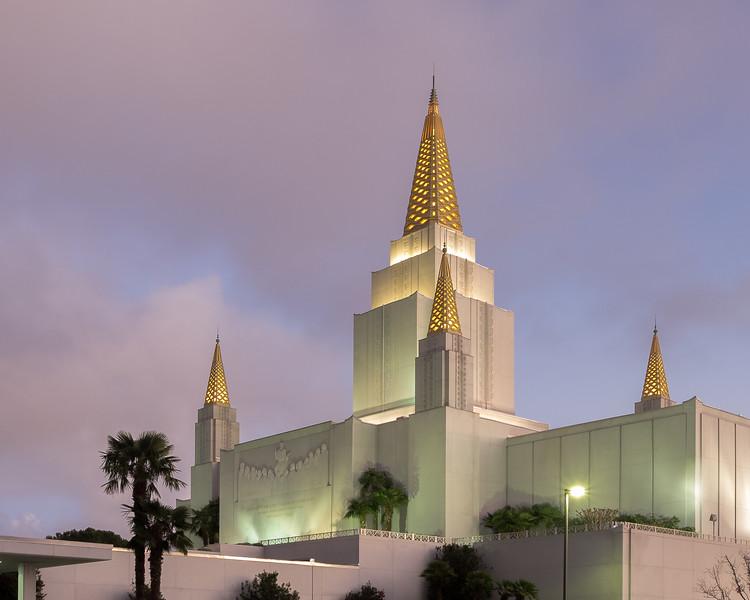 Mormon Temple and Dusk Sky