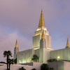 Mormon Temple and Dusk Sky