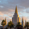 Mormon Temple and Pastel-Hued Clouds