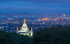 Mormon Temple, Downtown Oakland, and San Francisco Before  Sunrise